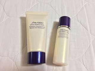 Shiseido Vital Perfection 旅行裝 洗臉膏 爽膚水 洗面膏 化妝水 美白 保濕 補濕