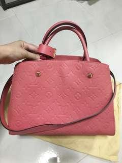 Louis Vuitton empreinte montaigne mm poppy