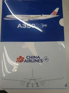 China airlines A350 A4 folder