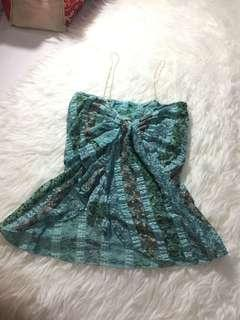 Lace top baby blue