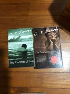 C S Lewis x2 books