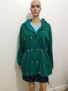 Blue Green Hoodie Jacket