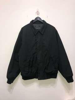 伏見古著 Nautica 帆船 黑色翻領飛行夾克 教練夾克 vintage