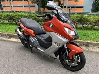 BMW C650Sport with very low mileages of 9,900km only. 2 Owners . Registered on 23/09/2016.