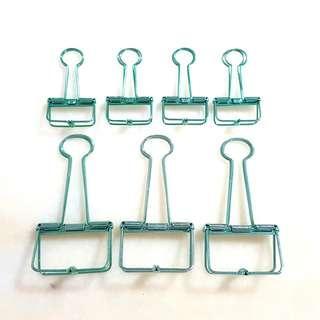 7 Pieces Metal Paper Binders/Clip