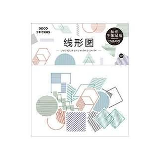 Pattern Geometry Lines Deco Stickers Pack
