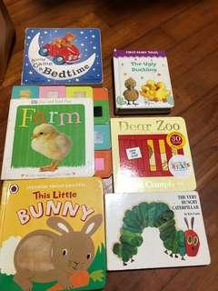 Board books x6
