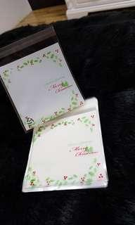 NEW 40pcs White Christmas Mistletoe Design Self-Adhesive Souvenir Cookie or Candy Plastic Pouch 10cm