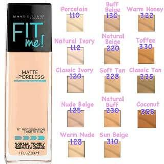 Free Pos Maybelline Fit Me Foundation 228