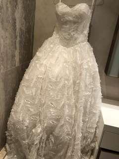 純白色婚紗 Wedding Dress Gown 羽毛款 新娘