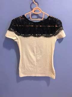 H&M Lacey cotton top
