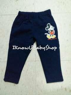Disney薄毛絨底長褲
