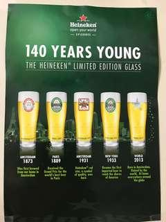 Heineken 140 Years Limited Edition Glass (a set of 5)