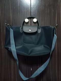 Dark Grey Long Champ Bag
