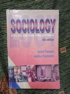 Sociology Focus on the Philippines 4th edition by Isabel Panopio and Adelisa Raymundo
