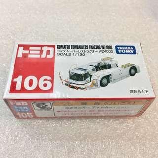 Tomica No.106 KOMATSU TOWBARLESS TRACTOR WZ4000
