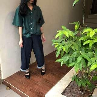 Green Blouse Oversize