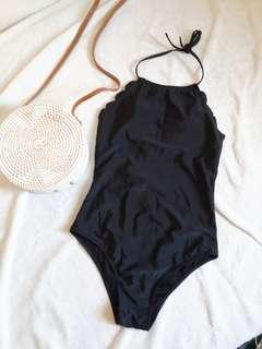 Black Scallop Swimsuit