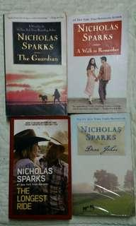 Nicholas Sparks Collection Books (The Guardian, A Walk to Remember , Dear John , The Longest Ride)