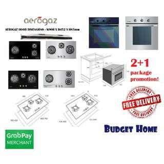 3 In 1 ( package )! Hood and hob .  HOB HOOD AND OVEN  AEROGAZ  HOOD AND HOB PLUS OVEN hood and hob package