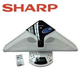 SHARP夏寶 USB立體聲揚聲器 DK-UH2 USB 端子可連接 iPod 或 MP3 播放器
