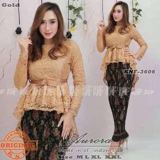 Gold Peplum Lace