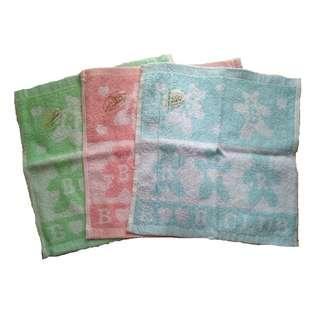 [3pcs]100% Cotton Face Towel/ Sapu Tangan 31cm x 31cm