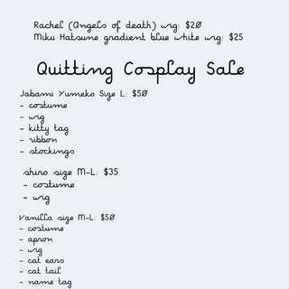 🚚 Quitting Cosplay Sale