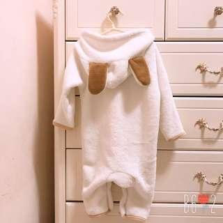 🚚 全新❤️小羊造型絨毛連身衣 90cm 冬衣