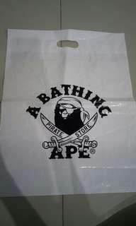 #PBIM BAPE/ A BATHING APE PLASTIC BAG LARGE