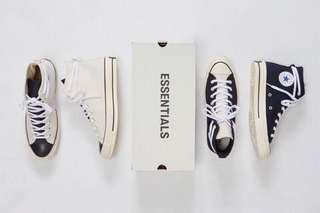 Converse X Fear Of God Essentials Chuck Taylor High 70 Black Light Bone