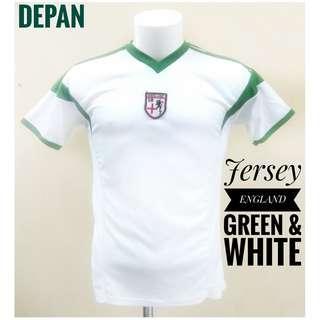 Jersey ENGLAND gren&white