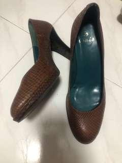 Spain leather heel shoes西班牙製蛇皮鞋