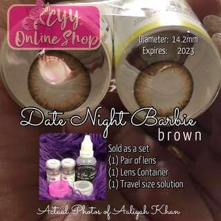 Date Night Barbie Brown *New Arrival!* Original Colored contacts Made in Korea. Good for 1 year use