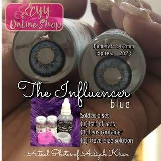 The Influencer Blue  *New Arrival!* Original Colored contacts Made in Korea. Good for 1 year use