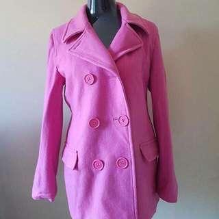 Delia's Pink Wool Coat