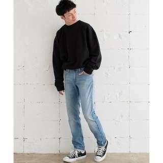 29腰 Levis 511 Slim 淺色強烈水洗 復古潮流窄管 窄版 牛仔褲 二手 長褲 古著