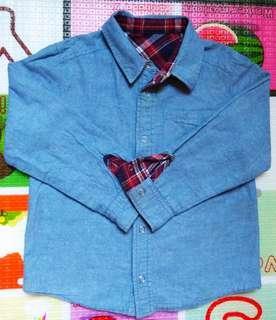 全新日本Gita牛仔襯衫120cm