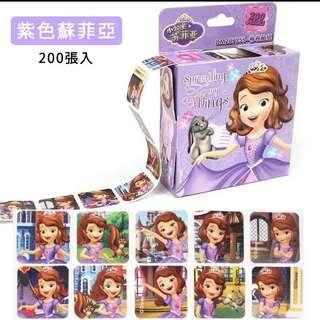 迪士尼200張卷裝貼紙