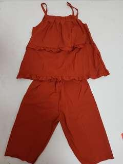 Brick red homewear set - L