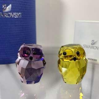 Swarovski Crystal Lovlots In Love - Victor & Victor The Owls #5136527 MIB W/COA