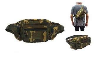 Tas Selempang / waist bag army. 42 x 14 x 13 cm. Cordura. Barang dijamin sesuai gambar. Idr 85000