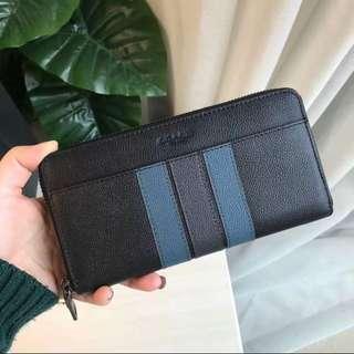 Authentic coach men wallet purse long clutch