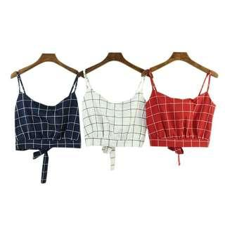 Open Back Tie Crop Top Shirt