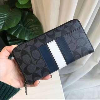 Authentic men wallet purse slim long wallet