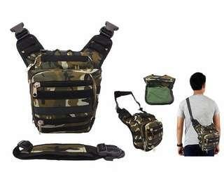 Tas Selempang / waist bag army. 31 x 26 x 13 cm. Cordura. Barang dijamin sesuai gambar. Idr 85000
