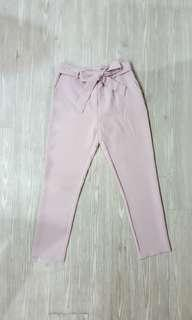 🚚 [BNWOT] Dusty Pink Tie Waist Pants