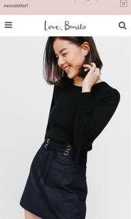 BNWT Love Bonito Raustena Lace-up Denim Mini Skirt