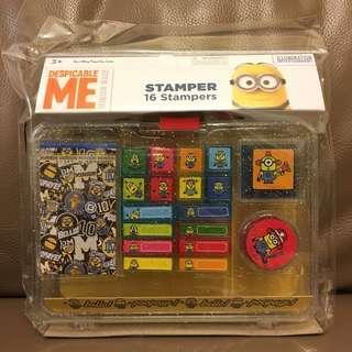 Minions 印仔套裝 (連膠盒、2色印台、簿仔) stamper set