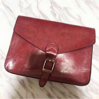 Maroon Postman Sling Bag